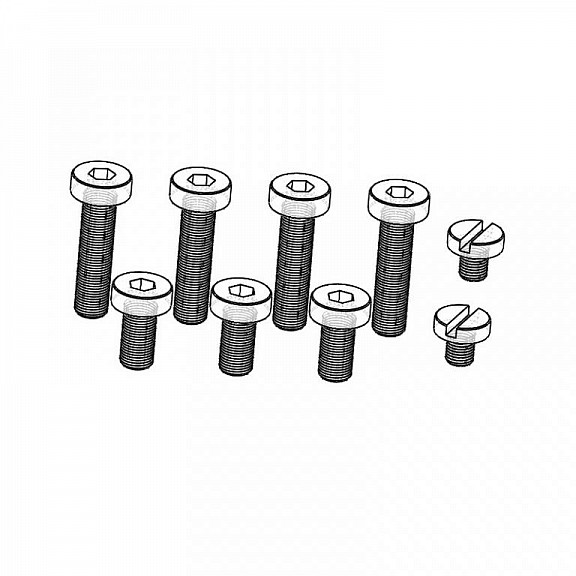 Set of screws for gearbox