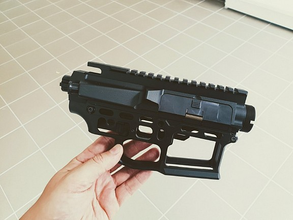 CNC receiver AR15 (Skeletonized) - D