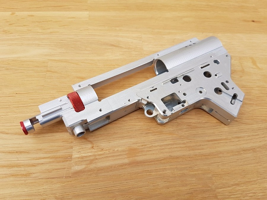 CNC Split Gearbox V2 with int  Hop Up Chamber (8mm) - QSC