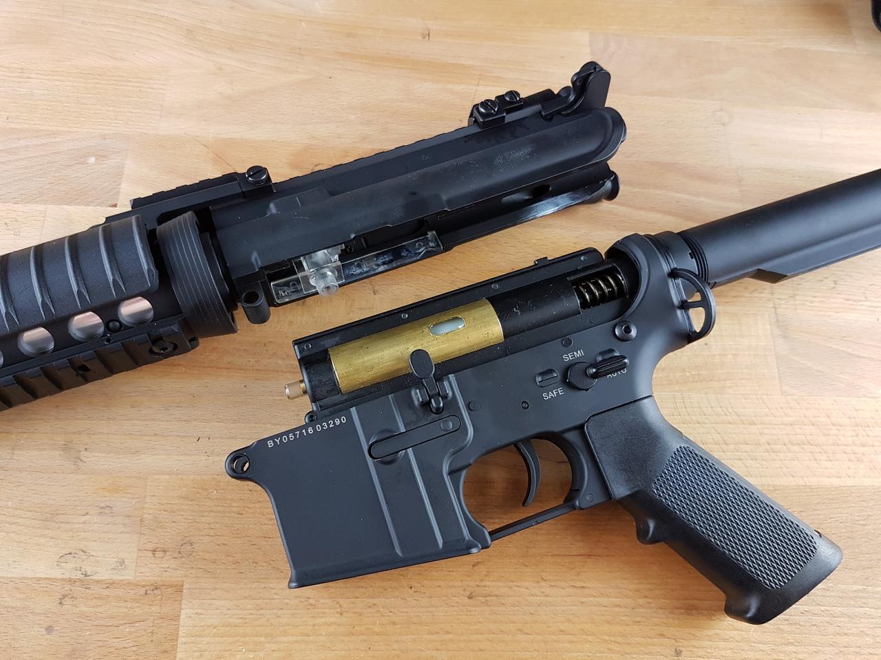 Concept for upgrade study – Dboys M4 + RetroArms split